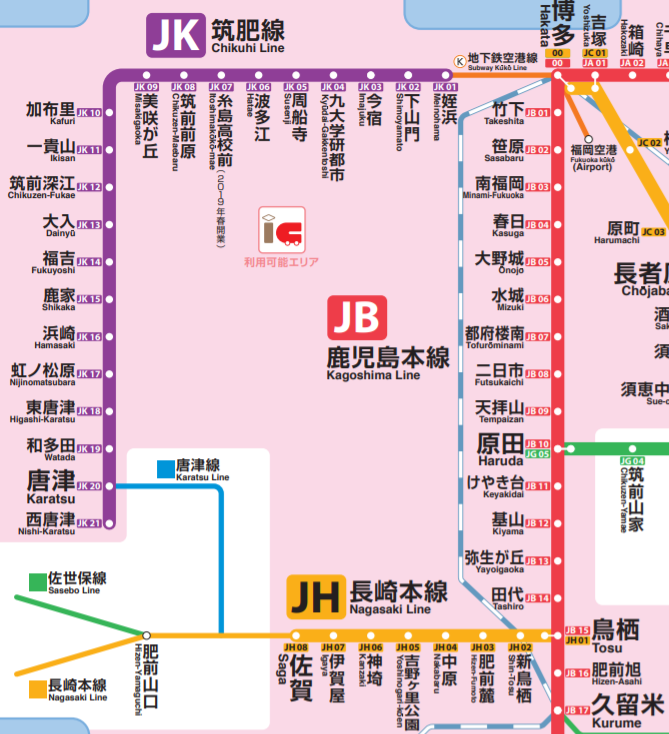 佐賀県路線図